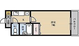 新大阪アネックス土井マンションB棟[1階]の間取り