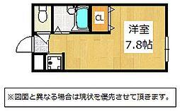 福岡県北九州市若松区ひびきの北の賃貸アパートの間取り