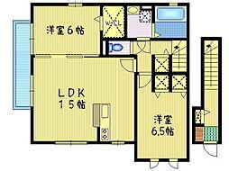モダンコート見川M&K[201号室]の間取り