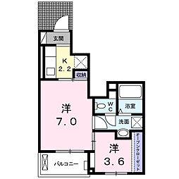 サニーヒルレオII[1階]の間取り