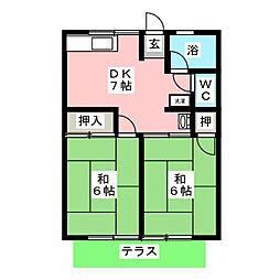 シティハイムイタクラA[1階]の間取り