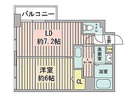 KDXレジデンス南三条[7階]の間取り