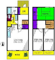 [テラスハウス] 東京都昭島市福島町1丁目 の賃貸【/】の間取り