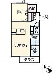仮)JA賃貸豊田市金谷町2丁目 1階1SLDKの間取り