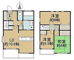 [テラスハウス] 東京都東久留米市前沢3丁目 の賃貸【/】の間取り
