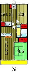 エクセレンス松戸参番館[2階]の間取り