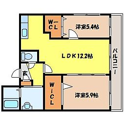 北海道札幌市中央区大通東4丁目の賃貸マンションの間取り