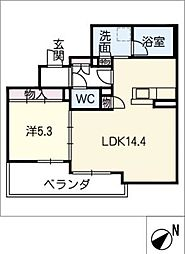 仮)シャーメゾン豊田市吉原町 3階1LDKの間取り