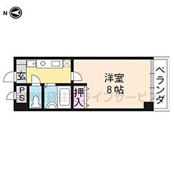 レジデンスじゅらく[201号室]の間取り