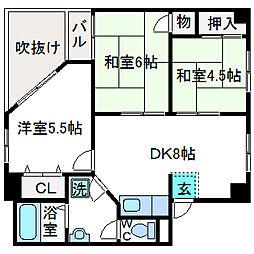 ハピネス栄町[2階]の間取り