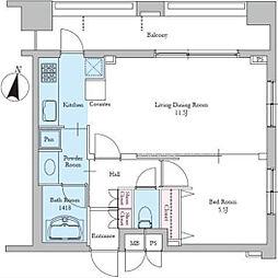 レジディア文京音羽II[9階]の間取り