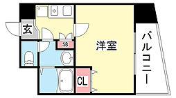 ラナップスクエア神戸県庁前[8階]の間取り