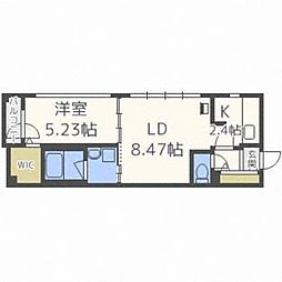 北海道札幌市豊平区豊平三条9丁目の賃貸マンションの間取り