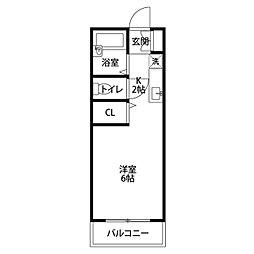オオタマンション[202号室]の間取り