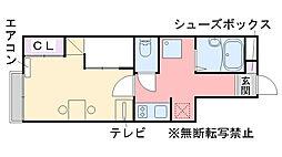 福岡県糸島市美咲が丘2丁目の賃貸アパートの間取り