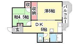 ネオライフ鈴蘭台[305号室]の間取り