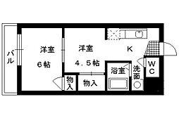 アドバンス弐番館[2階]の間取り