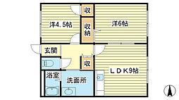 TNマンション[3-B号室]の間取り
