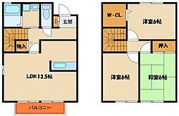 [タウンハウス] 兵庫県明石市太寺4丁目 の賃貸【/】の間取り