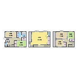 [一戸建] 大阪府東大阪市長堂3丁目 の賃貸【/】の間取り