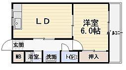 第7川辺ビル[5階]の間取り