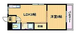 TOWA都島マンション[4階]の間取り