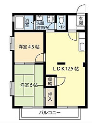 フレグランス北松戸A[1階]の間取り