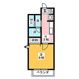 SHINKO TASHIRO[6階]の間取り