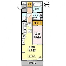 La maison de cerisier[101号室号室]の間取り