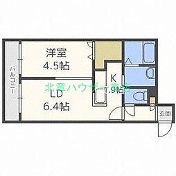 北海道札幌市東区北三十条東14丁目の賃貸マンションの間取り