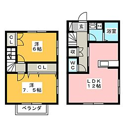 [テラスハウス] 静岡県沼津市下香貫 の賃貸【/】の間取り