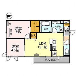 レオンガーデン 〜leon Garden〜[1O1号室号室]の間取り
