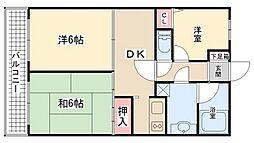 サンコート上本郷[4階]の間取り