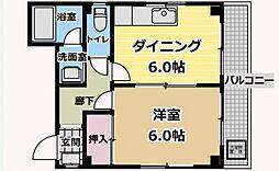 東京都台東区北上野2丁目の賃貸マンションの間取り