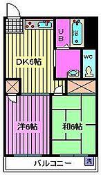 埼玉県川口市木曽呂の賃貸マンションの間取り