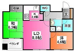 東京都北区豊島1の賃貸マンションの間取り