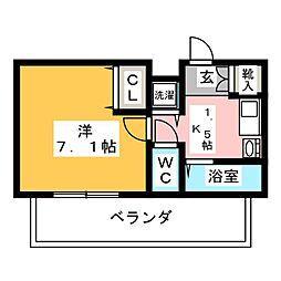 プレサンス覚王山D-StyleⅡ(1004)[10階]の間取り