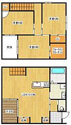 [一戸建] 福岡県久留米市荒木町白口 の賃貸【/】の間取り