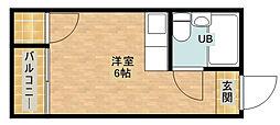 玉出タカハシマンション[4階]の間取り
