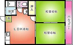 第1旭ビル[406号室]の間取り