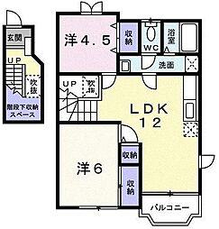 プレステージ21 Ⅱ[2階]の間取り