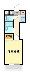 神奈川県川崎市宮前区馬絹2丁目の賃貸マンションの間取り