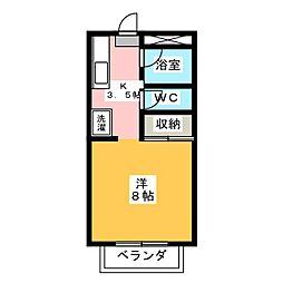 ラフォーレ駒方 A棟[1階]の間取り