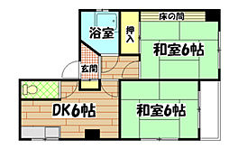 広島県広島市南区比治山町の賃貸アパートの間取り