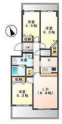 メゾン・デュ・リラ[2階]の間取り