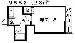 スタンドアップ羽曳野[202号室号室]の間取り
