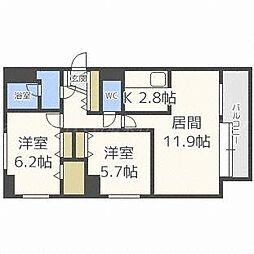 エスタシオンイカワIII[8階]の間取り
