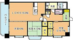 タウンコートIII[6階]の間取り