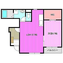 近鉄橿原線 田原本駅 徒歩9分の賃貸アパート 1階1LDKの間取り
