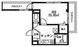 サンユーマンション[205号室号室]の間取り